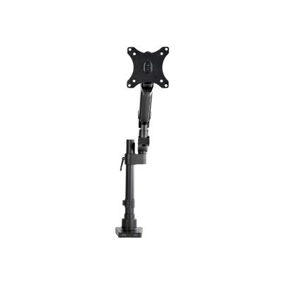 StarTech.com Desk Mount Monitor Arm with 2x USB 3.0 ports, Pole Mount Full Motion Single Arm Monitor Mount up to 17.6lbs/8kg VESA Display, Ergonomic Articulating Monitor Arm, Clamp/Grommet - Small Footprint Design (ARMPIVOT2USB3) - mounting kit - for monitor