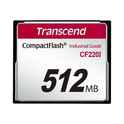 Transcend CF220I Industrial Temp - flash memory card - 512 MB - CompactFlash 5)  BULK