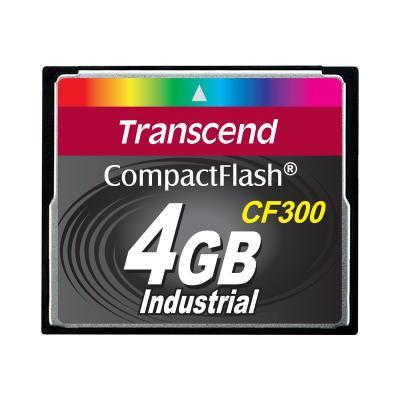 Transcend CF300 Industrial - flash memory card - 4 GB - CompactFlash  I )  BULK