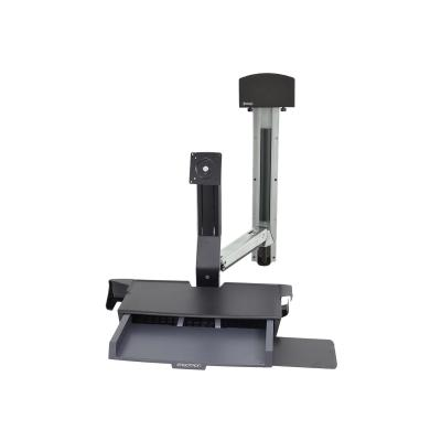 Ergotron StyleView Sit-Stand Combo System with Worksurface and Small CPU Holder - mounting kit - for LCD display / keyboard / mouse / barcode scanner / CPU ORKSURFCE CPU HOLDER