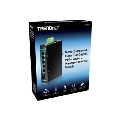 TRENDnet TI-PG541I - switch - 6 ports - managed GED