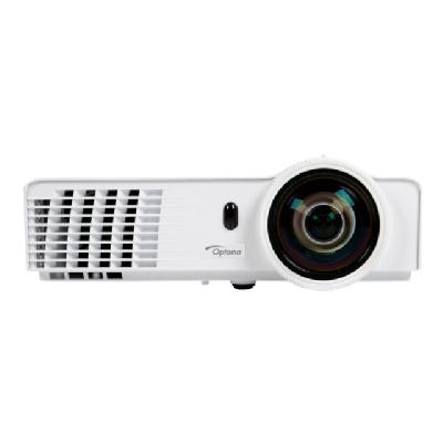 Optoma X305ST DLP projector - 3D 1 Contrast  Full 3D with HDMI v1.4a  2x VGA  S-Vid