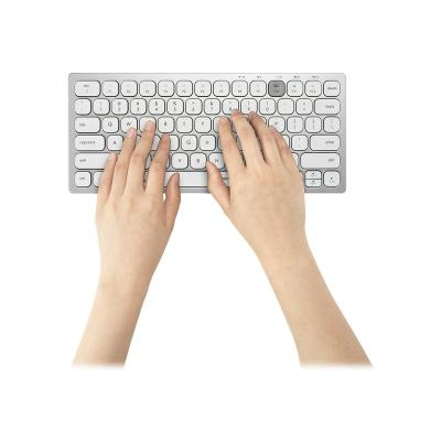 Kensington Multi-Device Dual Wireless Compact Keyboard - keyboard - silver pact Keyboard - Silver
