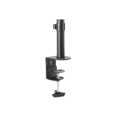 StarTech.com Single Monitor Desk Mount, Single Screen Heavy Duty Pole Mount for up to 8kg VESA Compatible Displays, Ergonomic Height Adjustable Monitor Arm Mount, Desk Clamp/Grommet - Small Footprint Design (ARMPIVOTV2) - mounting kit - for monitor L