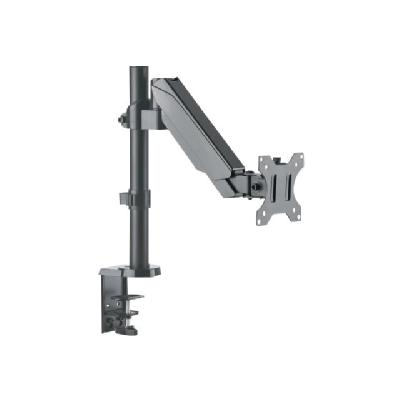 """Manhattan TV & Monitor Mount, Desk, Full Motion (Gas Spring), 1 screen, Screen Sizes: 10-27"""", Black, Clamp or Grommet Assembly,VESA 75x75 to 100x100mm, Max 8kg, Lifetime Warranty - mounting kit - for LCD display s One 17 to 32 TV or Monitor u p to 8 kg (17.64 lbs"""