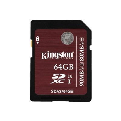 Kingston - flash memory card - 64 GB - SDXC UHS-I FLCARD