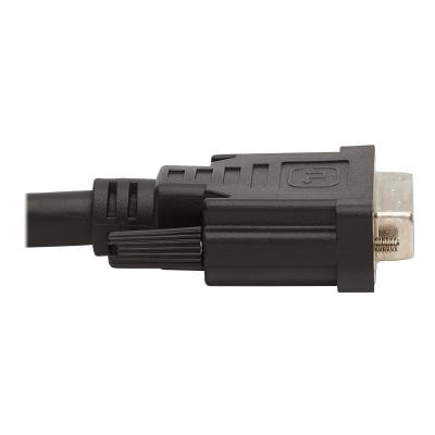 Tripp Lite DVI KVM Cable Kit - DVI, USB, 3.5 mm Audio (3xM/3xM) + USB (M/M) + DVI (M/M), 1080p, 10 ft., Black - video / USB / audio cable kit - 3.05 m 3.5 mm Audio (3xM/3xM) + USB ( M/M) + DVI (M/M)  10