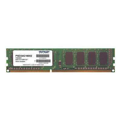 Patriot Signature Line - DDR3 - 4 GB - DIMM 240-pin - unbuffered