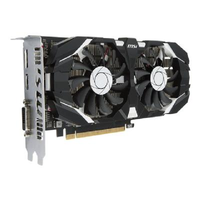 MSI GTX 1050 2GT OC graphics card - NVIDIA GeForce GTX 1050 - 2 GB e  7000 MHz  128 bits  TDP 75 W  PSU 300 W  DL-DVI