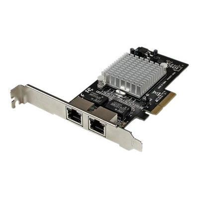 StarTech.com Dual Port PCI Express (PCIe x4) Gigabit Ethernet Server Adapter - 2 Port Network Card - Intel i350 NIC - GbE Network Card (ST2000SPEXI) - network adapter - PCIe 2.1 x4 - Gigabit Ethernet x 2 s to a client  server or works tation through a PCI