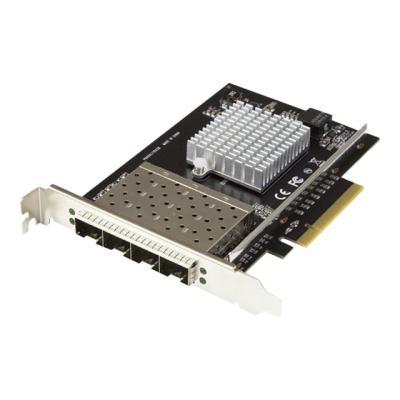StarTech.com Thunderbolt 3 to 10GbE Fiber Network Chassis 4 Port - network adapter - PCIe 3.0 x8 - 10 Gigabit SFP+ x 4  CTLR