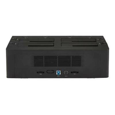 "StarTech.com 4 Bay USB 3.0 (5 Gbps) Hard Drive Docking Station w/ UASP for 2.5"" & 3.5"" SATA SSD HDD - Multiple External Hard Drive Cloner/ Copier Dock (SDOCK4U33) - storage enclosure"