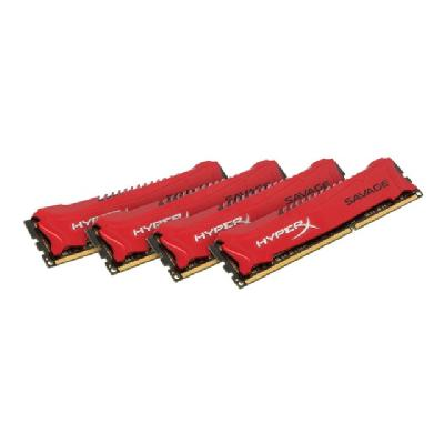 HyperX Savage - DDR3 - 32 GB: 4 x 8 GB - DIMM 240-pin 3  1866MHZ  CL9  1.5V  240-pin  DIMM  kit of 4