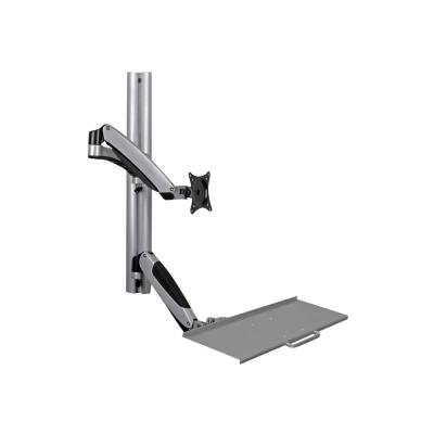 Tripp Lite Single-Display Sit-Stand Wall-Mount Workstation with Thin-Client Mount - mounting kit  MNT