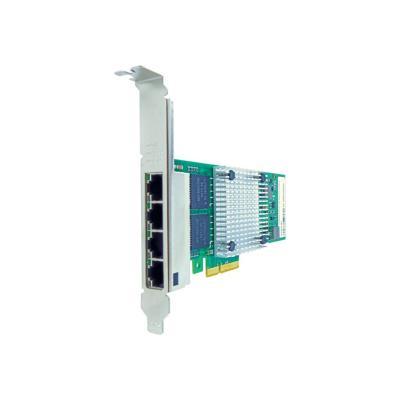 Axiom - network adapter - PCIe 2.1 x4 - Gigabit Ethernet x 4  RJ45 PCIe x4 NIC Card for IBM  - 49Y4240