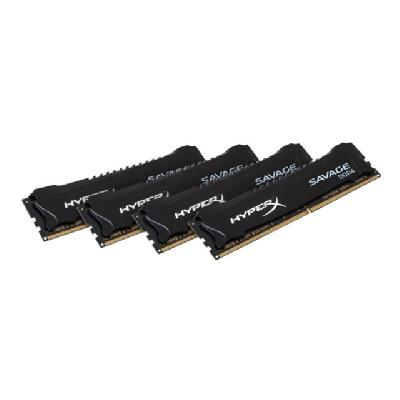 HyperX FURY - DDR4 - 16 GB: 4 x 4 GB - DIMM 288-pin  DDR4  2400MHZ  CL15  1.2V  28 8-pin DIMM  kit of 4