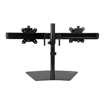 "StarTech.com Dual Monitor Mount - Supports Monitors 12"" to 24"" - Adjustable - VESA Monitor Stand for Desk - Low Profile Base - Horizontal - Black (ARMBARDUO) - stand (adjustable arm)  STND"