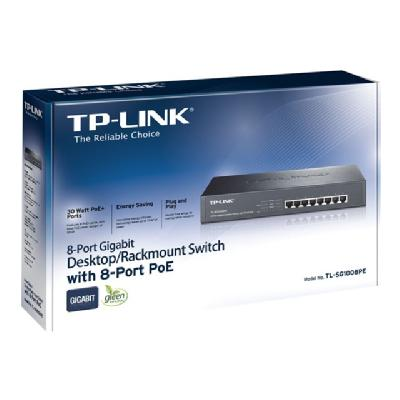 TP-Link TL-SG1008PE - switch - 8 ports - unmanaged - rack-mountable  PERP