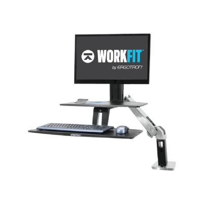 Ergotron WorkFit-A Single HD Workstation with Suspended Keyboard Standing Desk - mounting kit - for LCD display / keyboard / mouse (Asia Pacific, North America) L HD