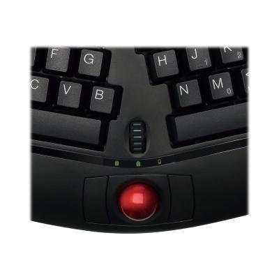 Adesso Tru-Form Media WKB-3150UB - keyboard - with trackball, scroll wheel - US
