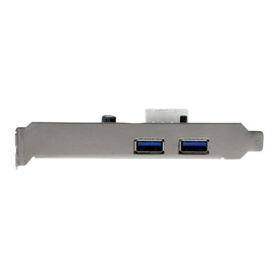StarTech.com 2 Port PCI Express (PCIe) SuperSpeed USB 3.0 Card Adapter with UASP - LP4 Power - Dual Port USB 3 PCIe Controller (PEXUSB3S25) - USB adapter - PCIe - USB 3.0 x 2  to your PCI Express-enabled P C-2 Port PCI Express