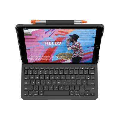 "Logitech 10.2"" Keyboard Case Slim Folio for iPad (7th and 8th gen) - keyboard and folio case - graphite WCASE"