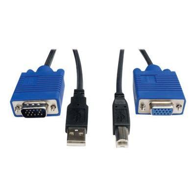 Tripp Lite 10ft KVM Switch USB Cable Kit for KVM Switch B006-VU4-R - video / USB cable - 3 m B006-004-R