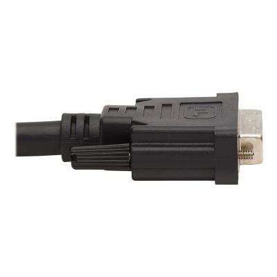 Tripp Lite DVI KVM Cable Kit, 3 in 1 - DVI, USB, 3.5 mm Audio (3xM/3xM), 1080p, 10 ft., Black - video / USB / audio cable - 3.05 m  3.5 MM AUDIO