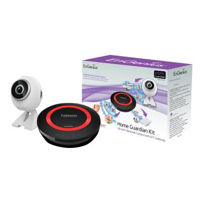 EnGenius EBK1000 Home Guardian Kit with HD720P IP Camera and Dual Band IoT Gateway - wireless router - 802.11a/b/g/n/ac - desktop, wall-mountable oT Gateway. Kit  includes the EnGenius EPG5000 Dua