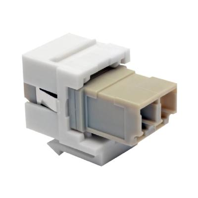 Tripp Lite Duplex Multimode Fiber Coupler, Keystone Jack - LC to LC, White - coupleur Keystone - blanc  LC LC WHT