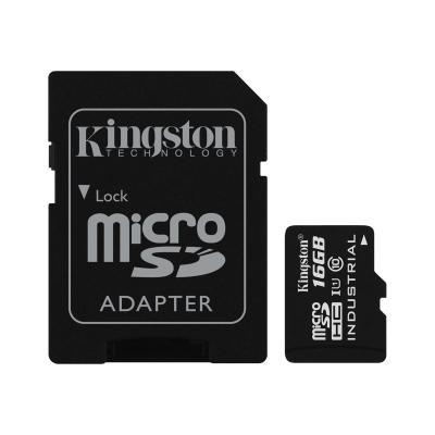 Kingston - flash memory card - 16 GB - microSDHC UHS-I Industrial Temp Card + SD Adap ter