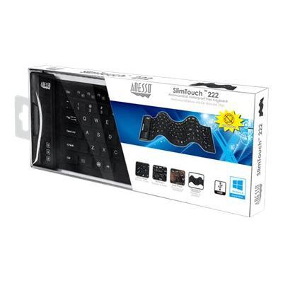 Adesso SlimTouch 222 - keyboard - US terproof Flex Keyboard (Compac t Size)
