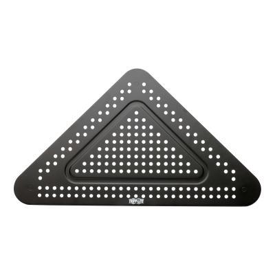 Tripp Lite Monitor Riser for Desk, 12 x 20 in. - Height Adjustable, Corner, Metal, Black - monitor stand 0 in. - Height Adjustable  Cor ner  Metal  Black