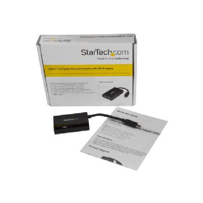StarTech.com USB-C to Ethernet Adapter w/ PD Charging - USB-C GbE Adapter - network adapter  PD CHARGING