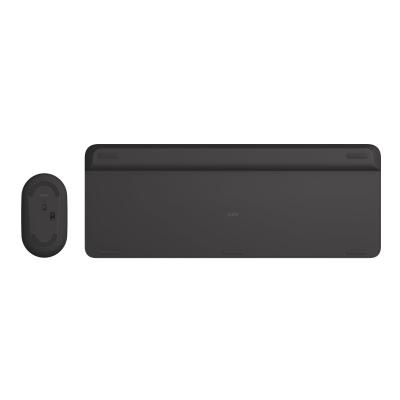 Logitech Slim Wireless Combo MK470 - keyboard and mouse set - graphite )