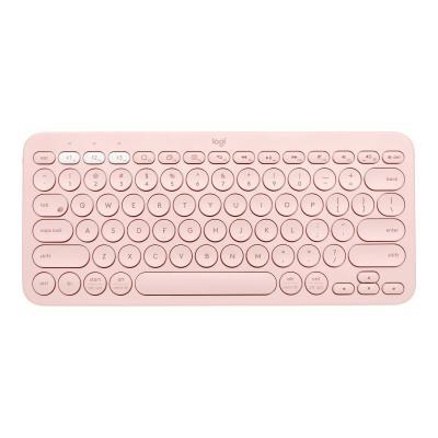 Logitech K380 Multi-Device Bluetooth Keyboard - keyboard - QWERTY - US - rose
