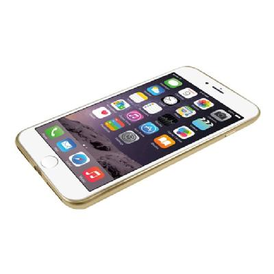 Macally Ultra Thin Soft back cover for cell phone arent Back and Matte Gold Colo r Trim for iPhone7 P