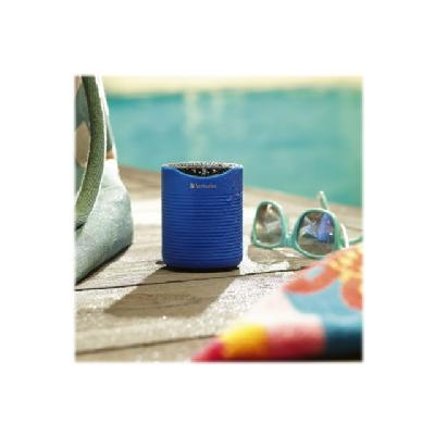 Verbatim Mini Wireless Waterproof Bluetooth Speaker - speaker - for portable use - wireless  microphone for hands-free cal ling Up to 6 hours p