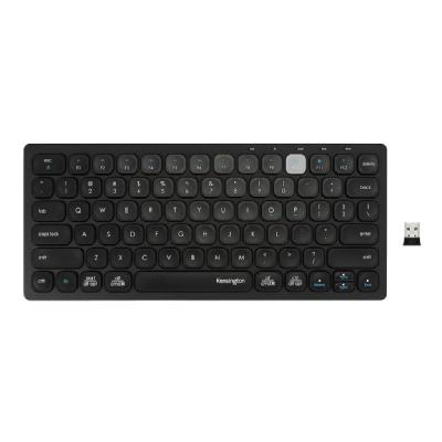 Kensington Multi-Device Dual Wireless Compact Keyboard - keyboard - black pact Keyboard - Black