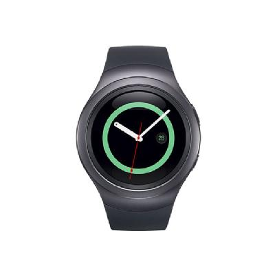 Samsung Gear S2 - dark gray - smart watch with band - black - 4 GB  ACCS