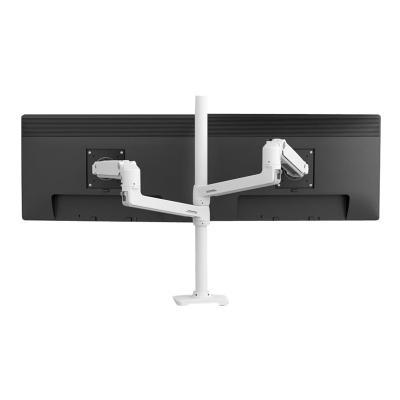 Ergotron LX Dual Stacking Arm Tall Pole - mounting kit e  Bright Polished Aluminum  B lack Accents