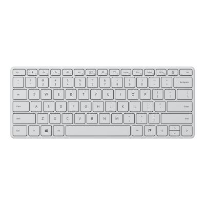 Microsoft Designer Compact - keyboard - Canadian French - glacier  WRLS