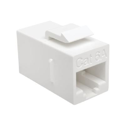 Tripp Lite Cat6a Straight Through Modular In Line Snap In Coupler RJ45 F/F - network coupler - white  In Line Snap In Coupler RJ45 F/F