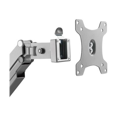 """Tripp Lite Single-Display Flex-Arm Desktop Clamp for 17"""" to 32"""" Flat-Screen Displays - USB and Audio Ports, Aluminum - mounting kit (full-motion adjustable arm) IO 17IN-32IN"""