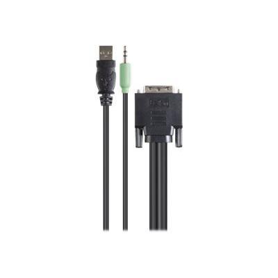 Belkin Secure KVM Cable Kit - video / USB / audio cable kit - 3 m - B2B