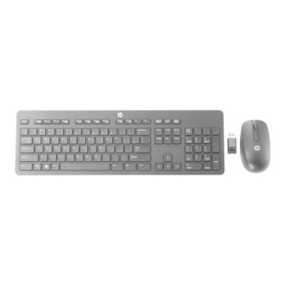 HP Slim - keyboard and mouse set - US (English)  WRLS