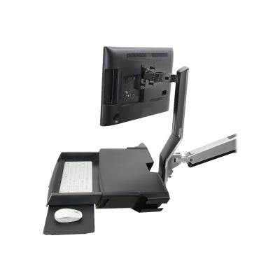 Ergotron StyleView Combo Arm with Worksurface & Pan - mounting kit - for LCD display / keyboard / mouse / barcode scanner N  POLISHED