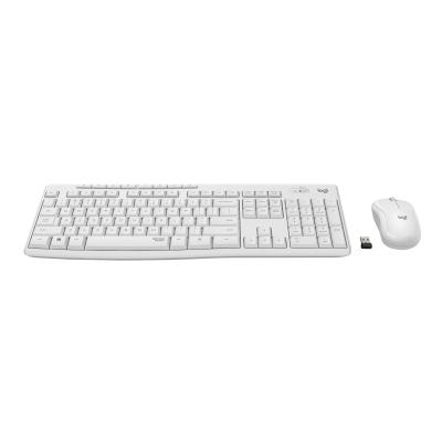Logitech MK295 Silent - keyboard and mouse set - off white  WRLS
