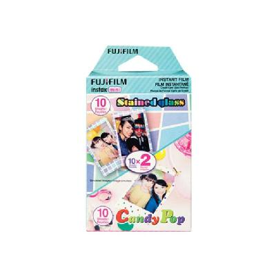 Fujifilm Instax Mini - color instant film - ISO 800 - 10 - 2 cassettes Candypop & Stained Glass - 20 Exp)