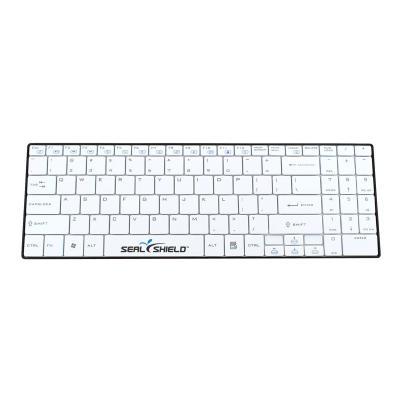 Seal Shield Clean Wipe Waterproof - keyboard - black/white  White  Bluetooth  Dishwasher Safe & Antimicrobial